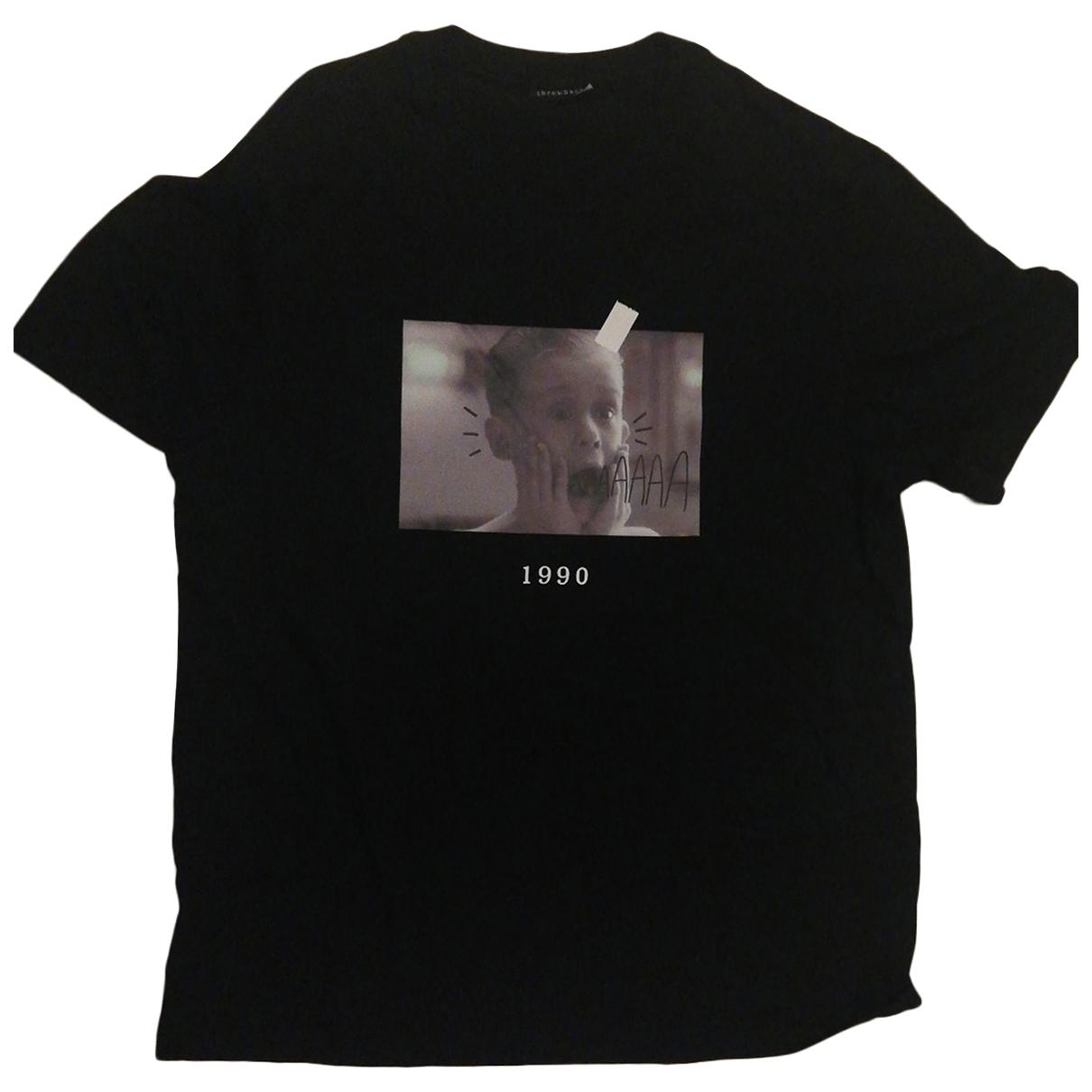 Autre Marque N Black Cotton T-shirts for Men XL International