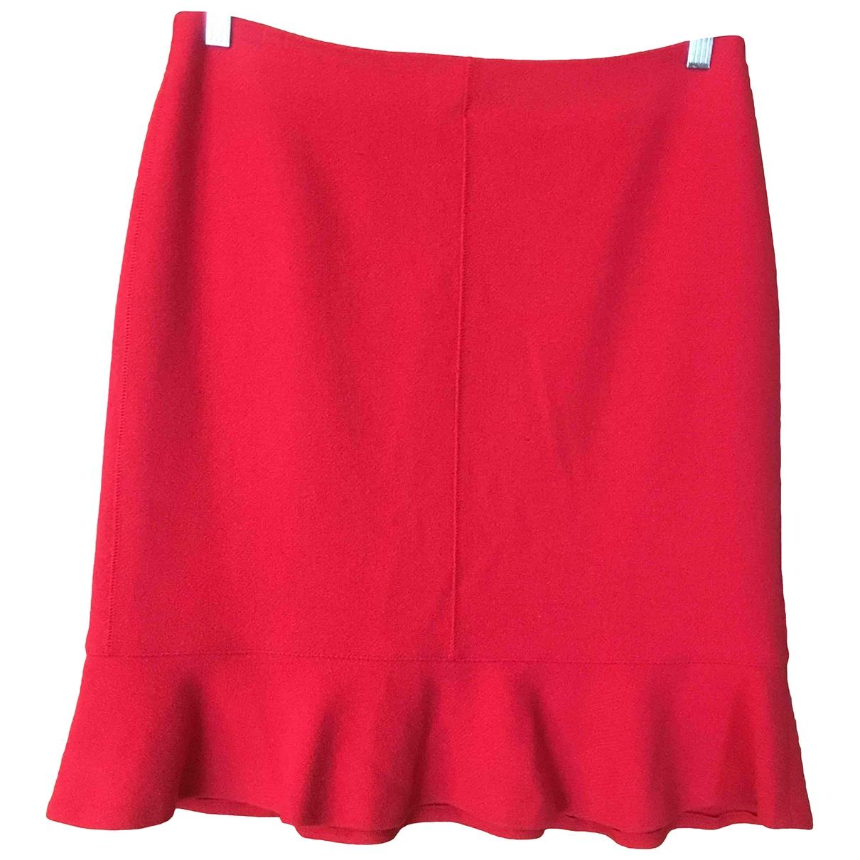 Marc Cain - Jupe   pour femme en laine - rouge
