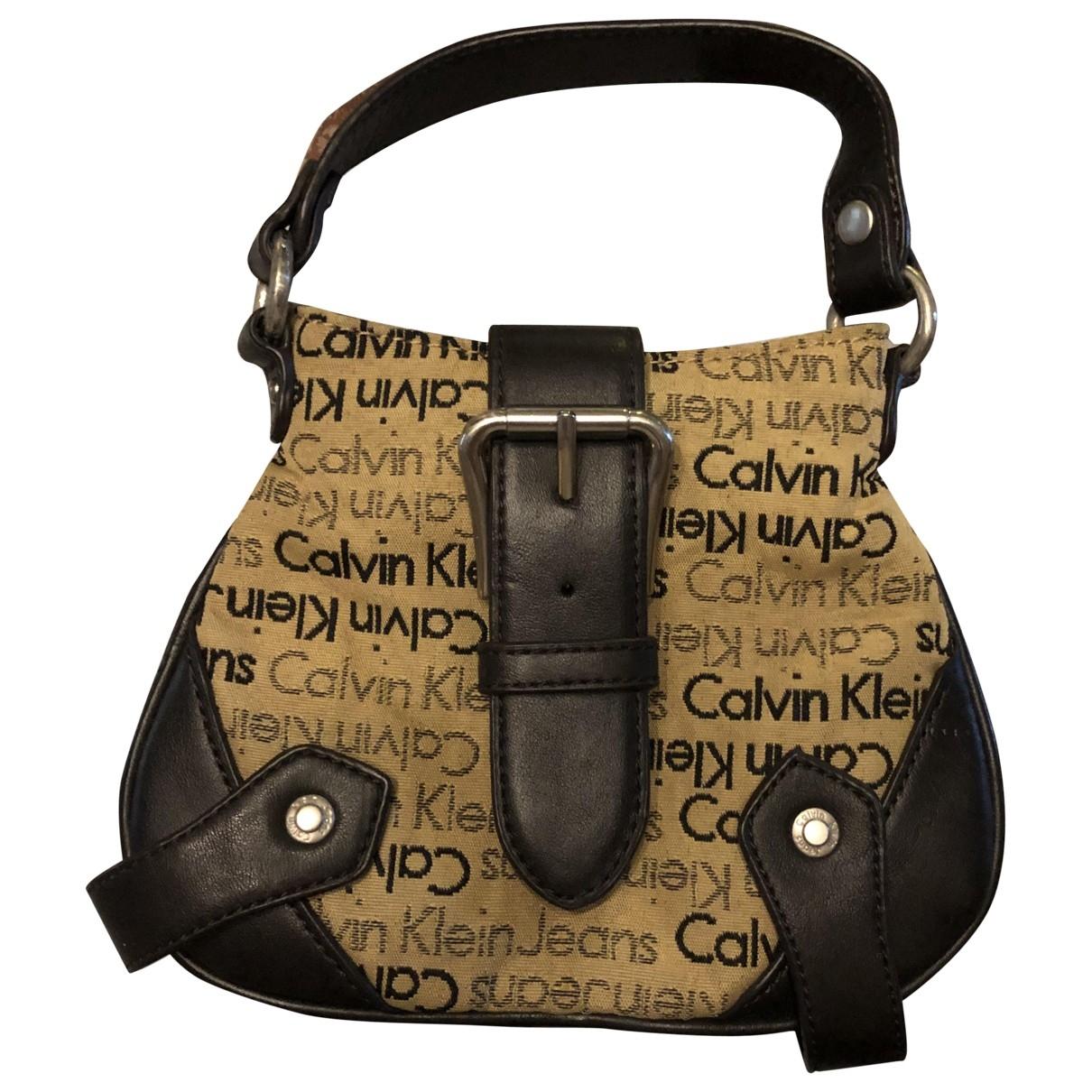 Calvin Klein - Sac a main   pour femme en denim - marron