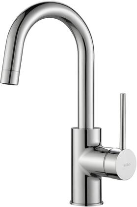 KPF2600CH Oletto Series Cast Spout Kitchen Bar Faucet with Solid Brass Construction  QuickDock Technology  and Ceramic Cartridge