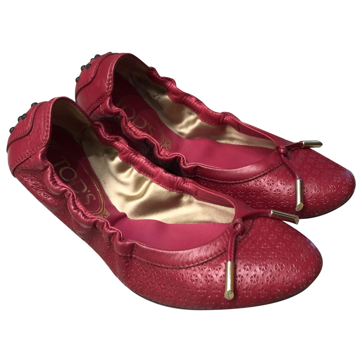 Tod's \N Leather Ballet flats for Women 35 EU