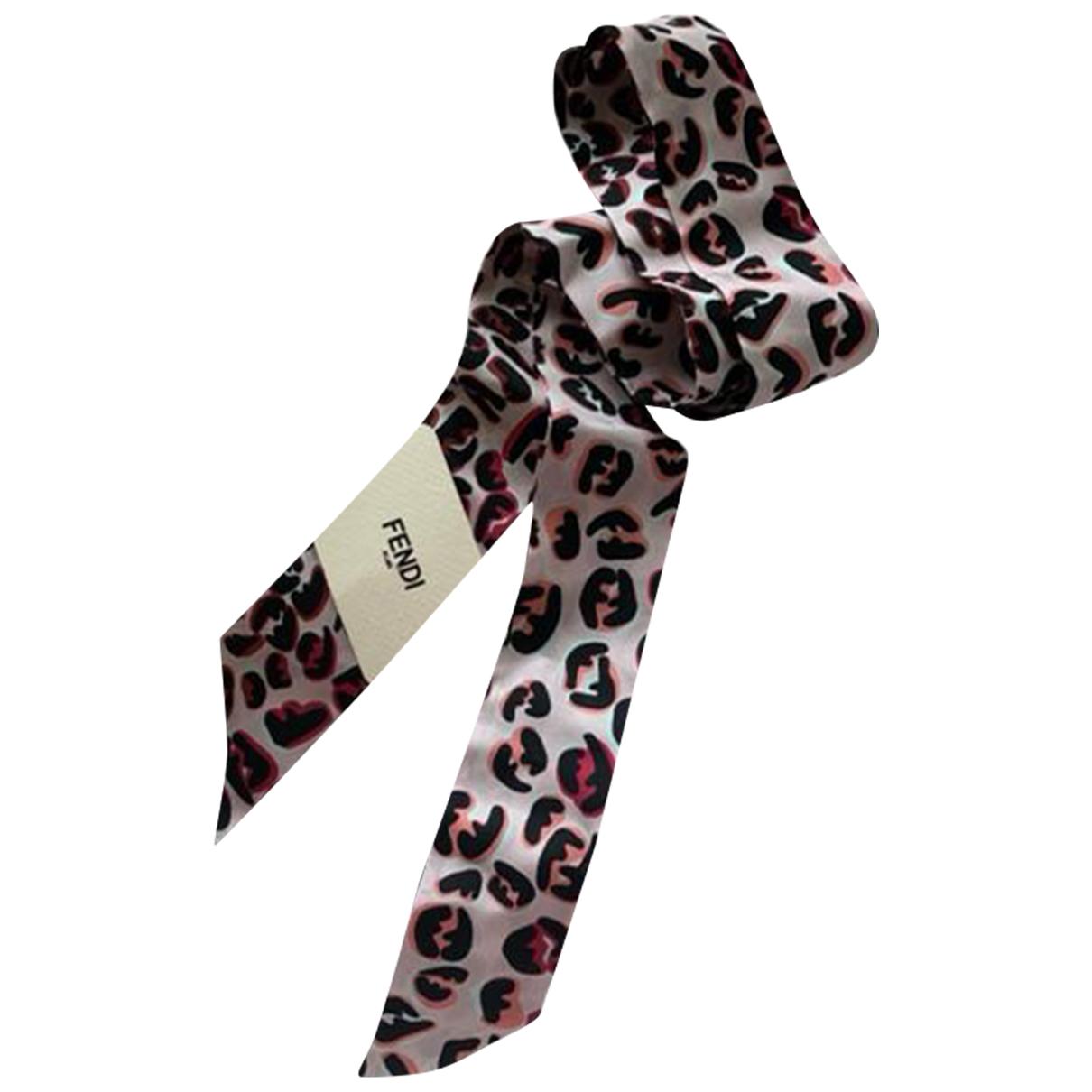 Fendi - Foulard   pour femme en soie - rose