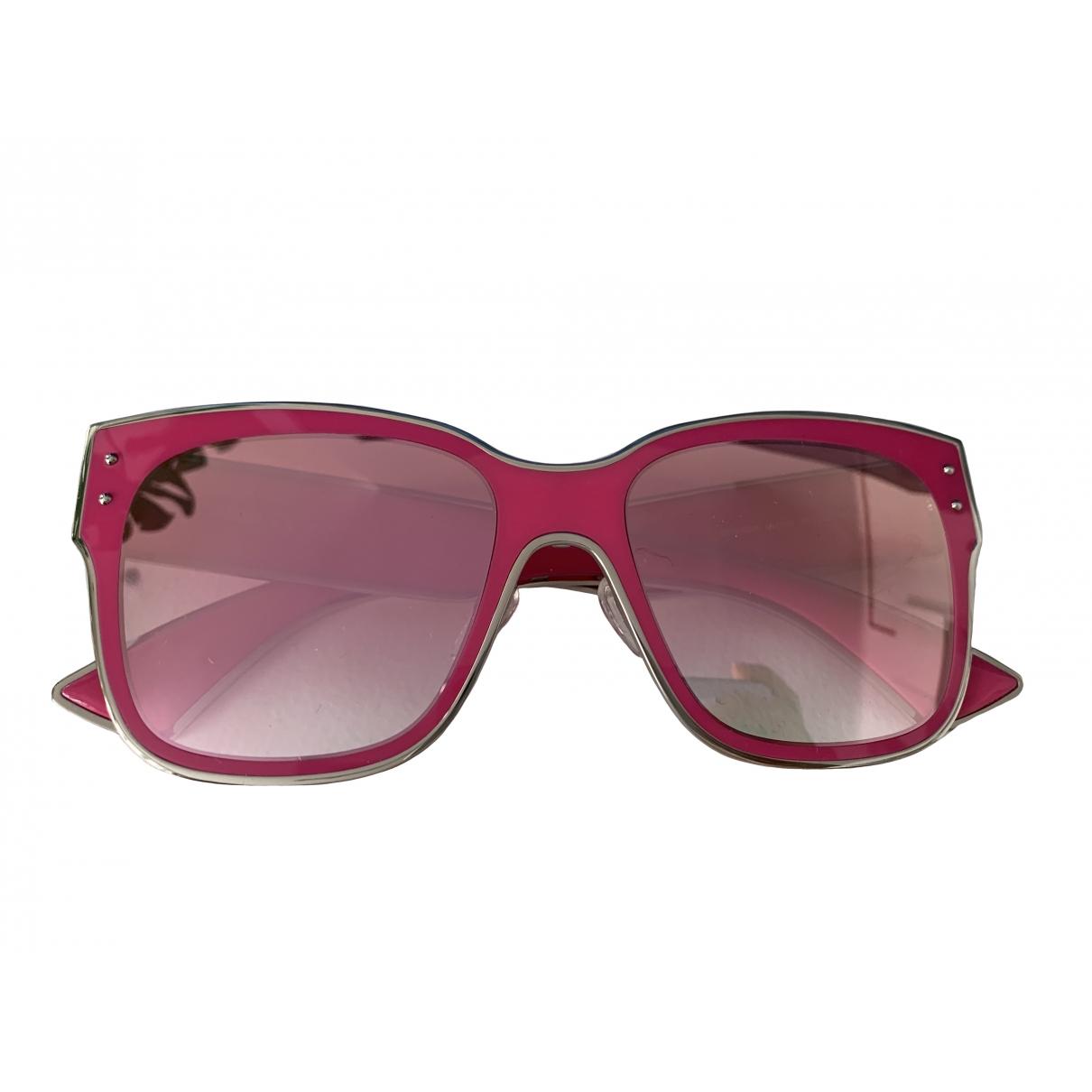 Moschino - Lunettes   pour femme en metal - rose