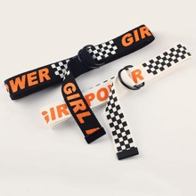 2pcs Letter Graphic Tape Belt