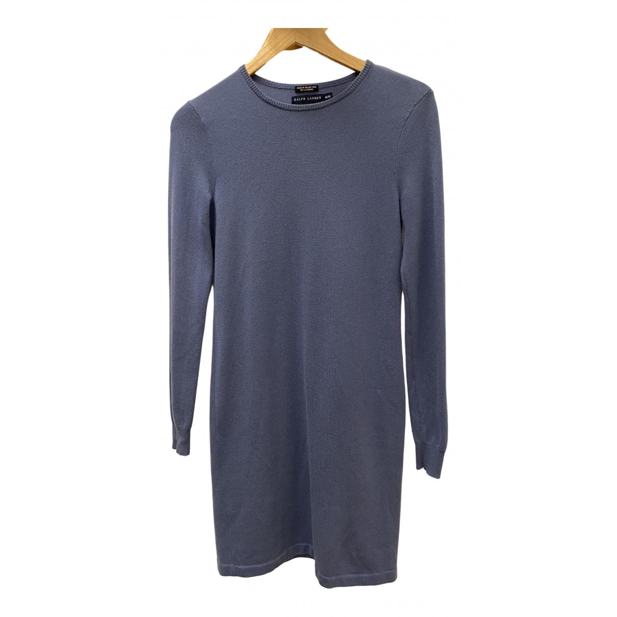 Ralph Lauren - Robe   pour femme en cachemire - bleu