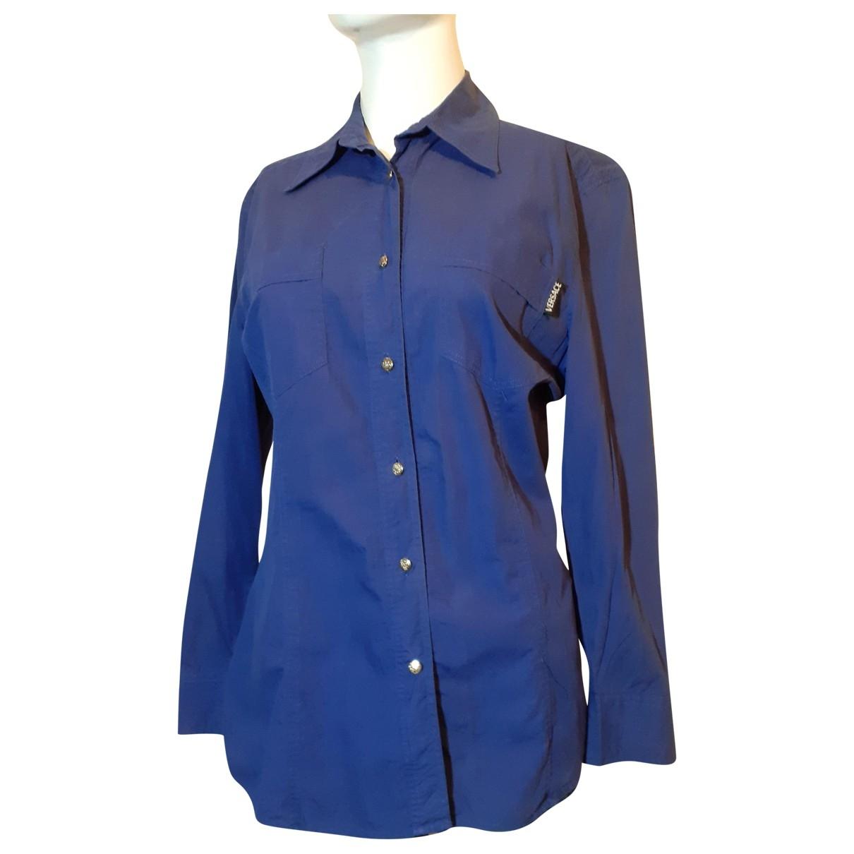 Versace Jeans \N Top in  Blau Baumwolle