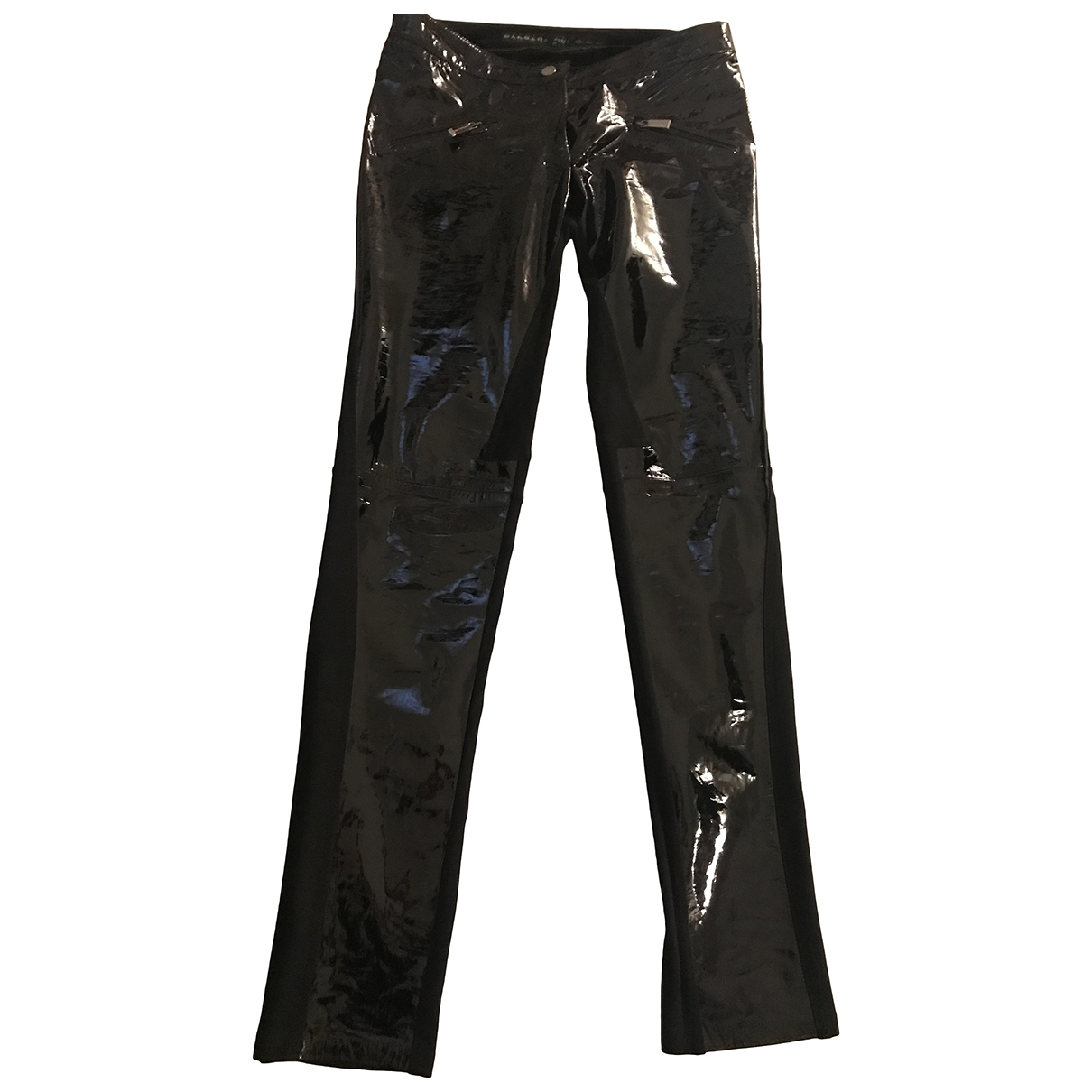 Barbara Bui \N Black Leather Trousers for Women 40 FR