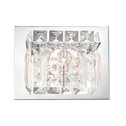 BV1001-0-15 Crown Vanity - 1 Light Clear Crystal glass/ Chrome