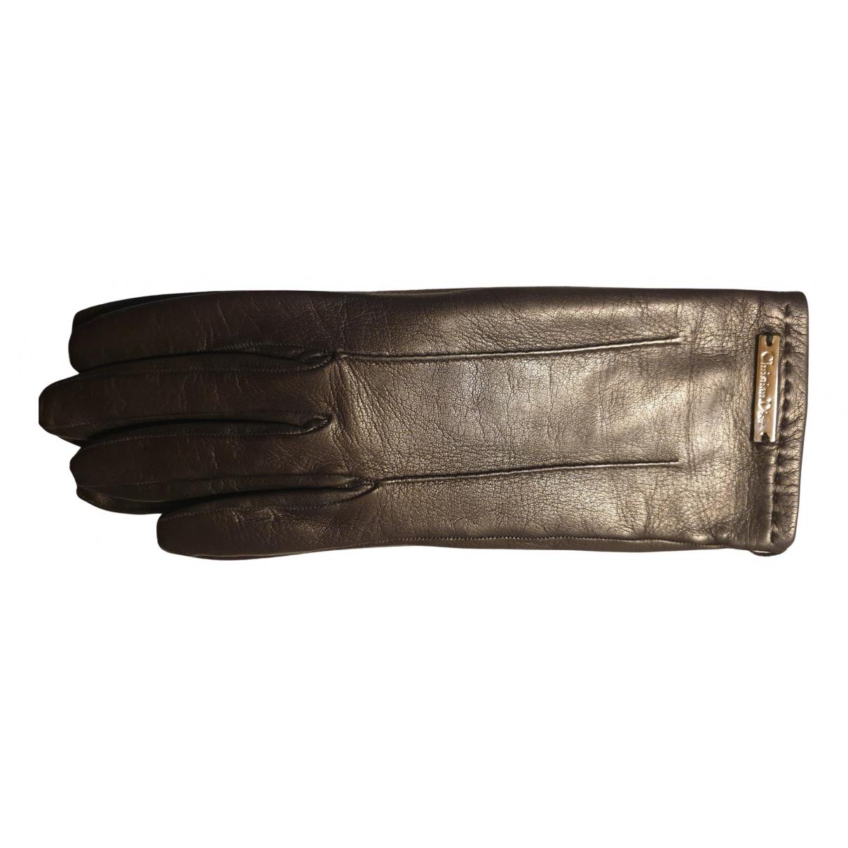 Dior \N Handschuhe in  Schwarz Leder