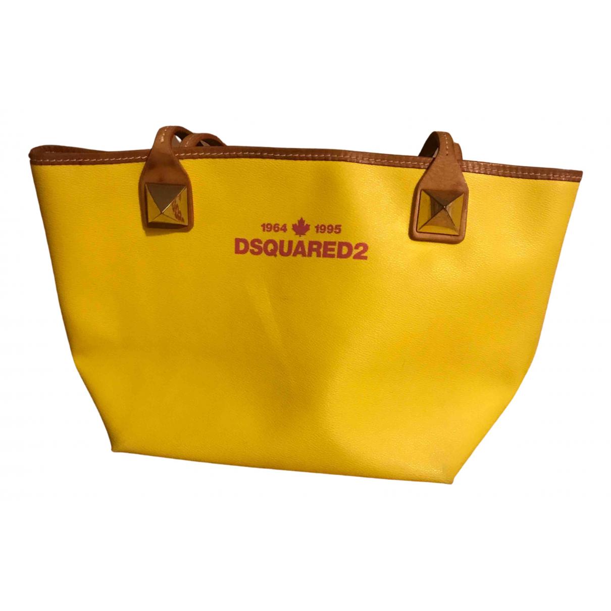 Dsquared2 - Sac de voyage   pour femme en cuir - jaune