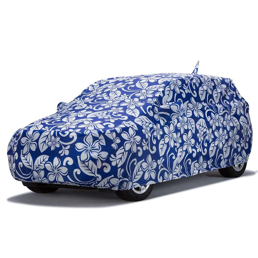 Covercraft C18446KB Grafix Series Custom Car Cover Floral Blue Honda Insight 2019-2020