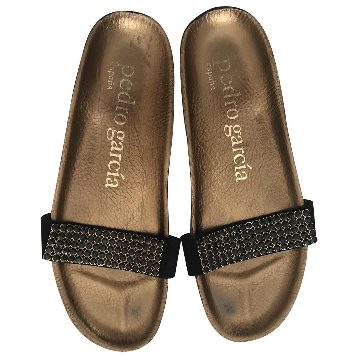 Pedro Garcia \N Black Suede Sandals for Women 40 EU