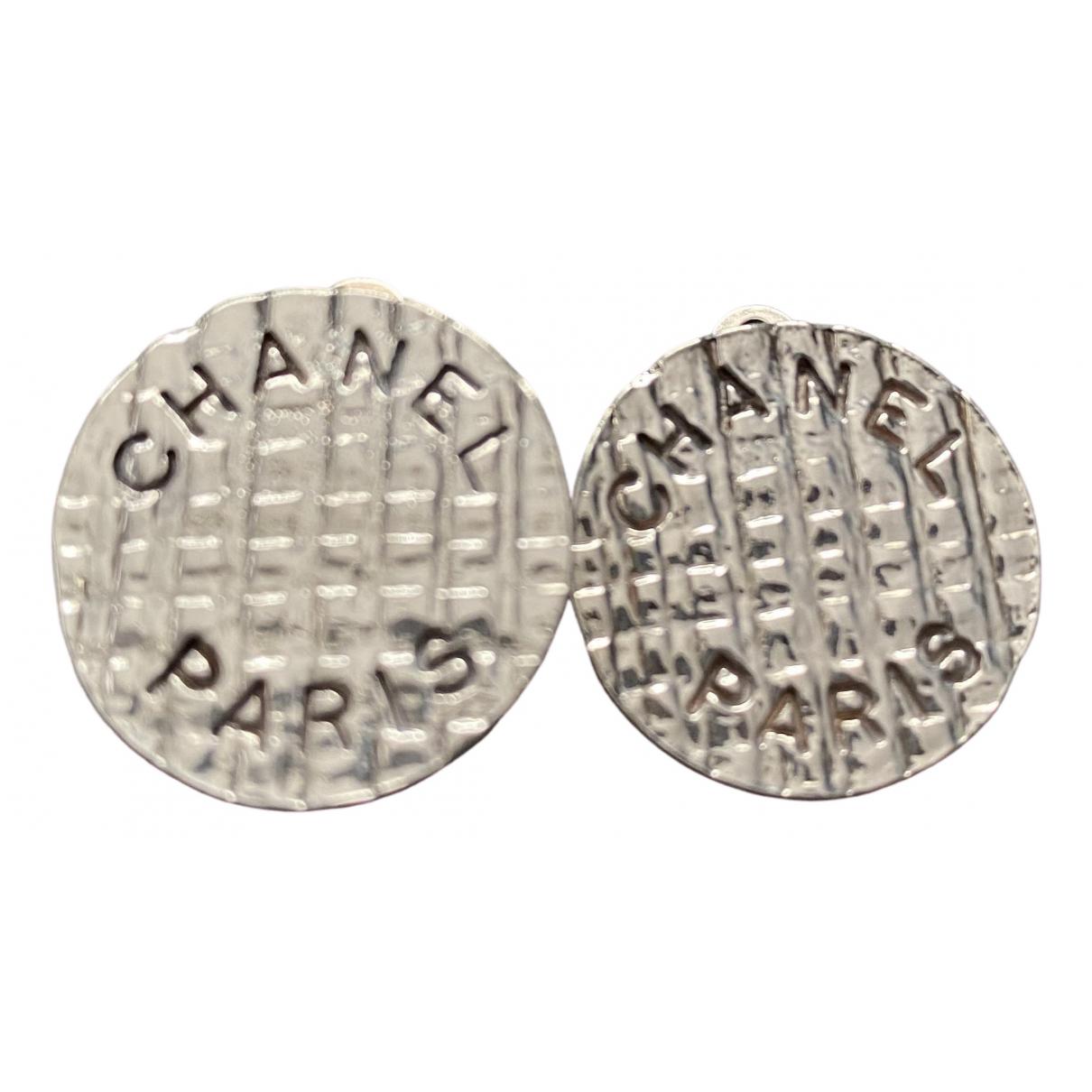Chanel Matelasse OhrRing in  Silber Metall
