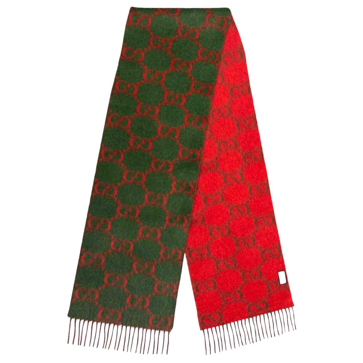 Gucci - Foulard   pour femme en laine - rouge