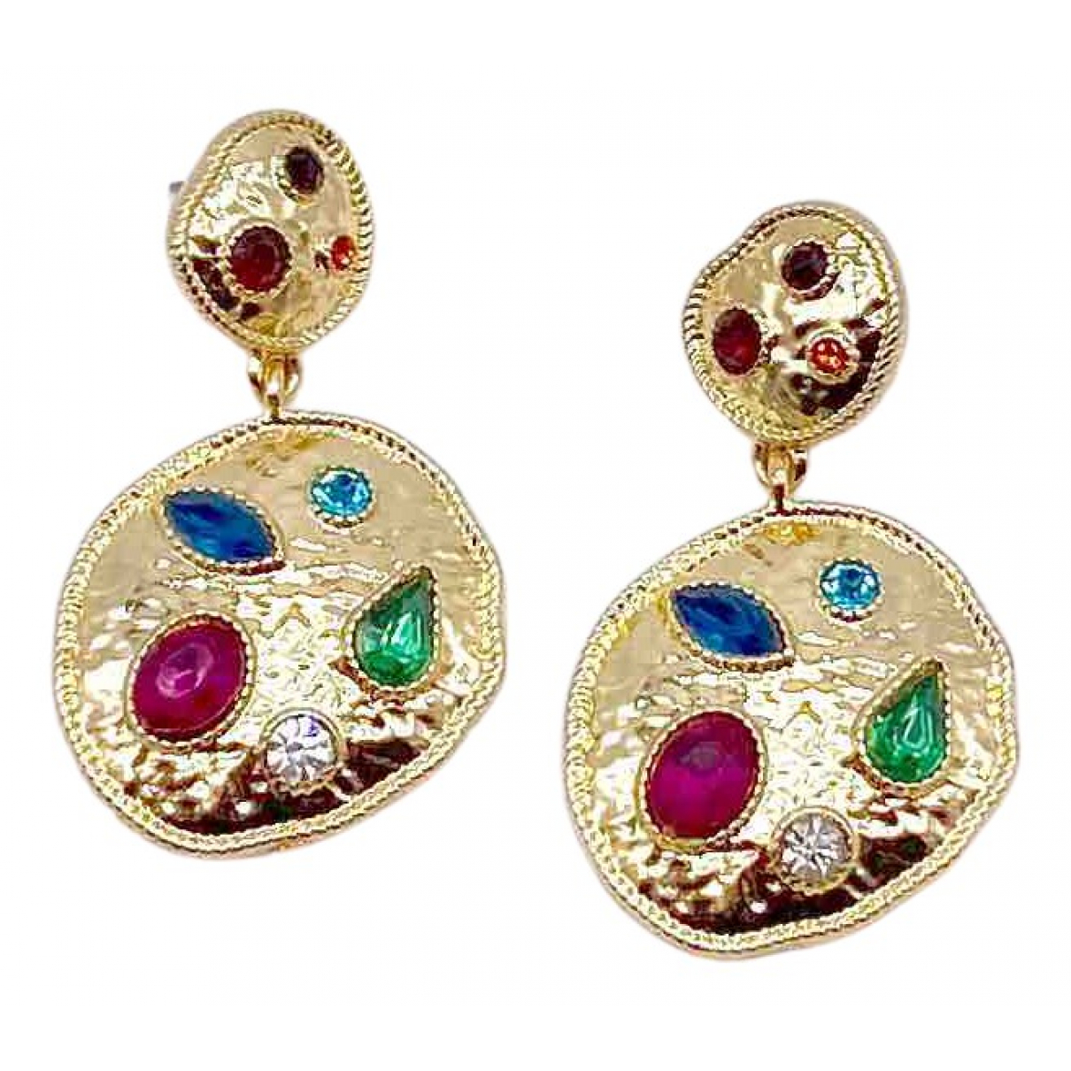 Non Signé / Unsigned \N Gold Metal Earrings for Women \N