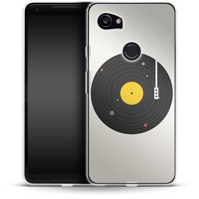 Google Pixel 2 XL Silikon Handyhuelle - Music Everywhere von Florent Bodart