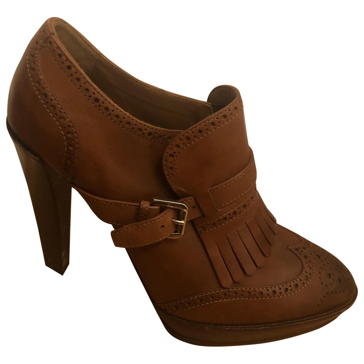Ralph Lauren - Escarpins   pour femme en cuir - marron