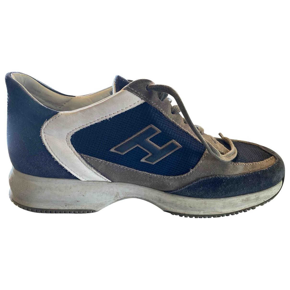 Hogan - Baskets   pour homme en suede - bleu