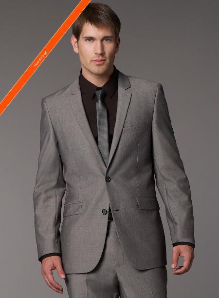 Mens Grey Tonic Slim Fit Suit