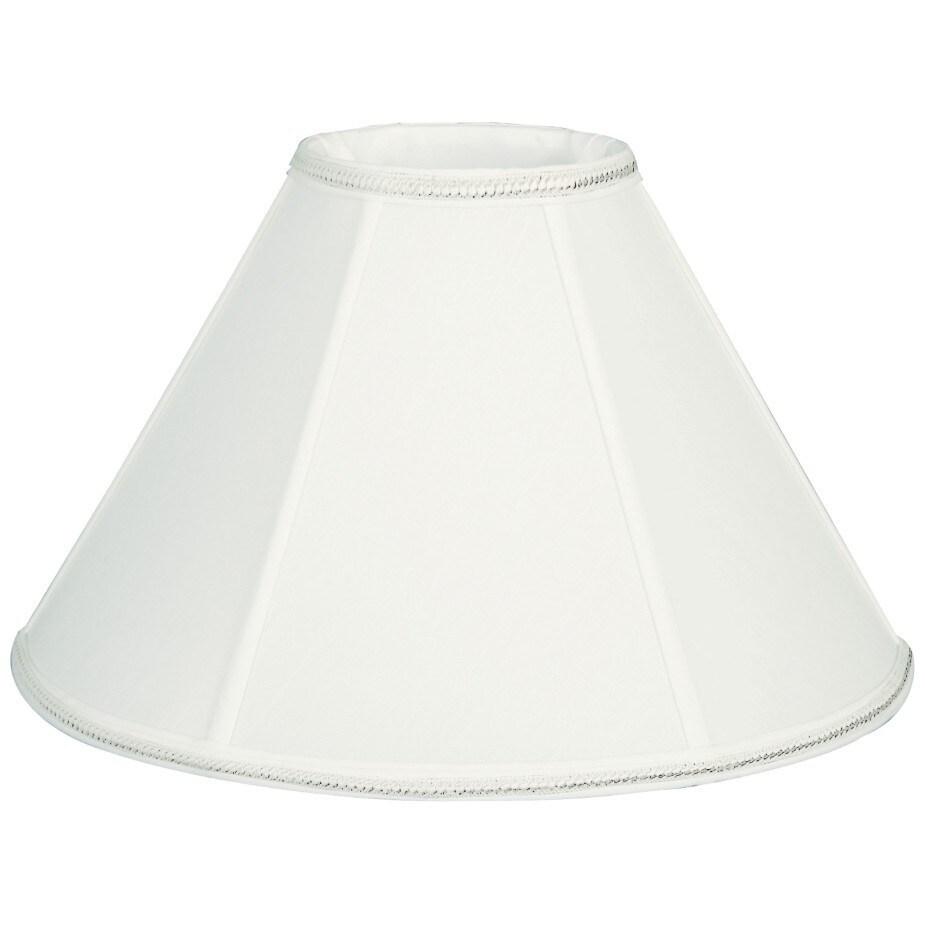 Royal Designs Round Empire Designer Lamp Shade, White, 4.5 x 12 x 7.5 (Color)