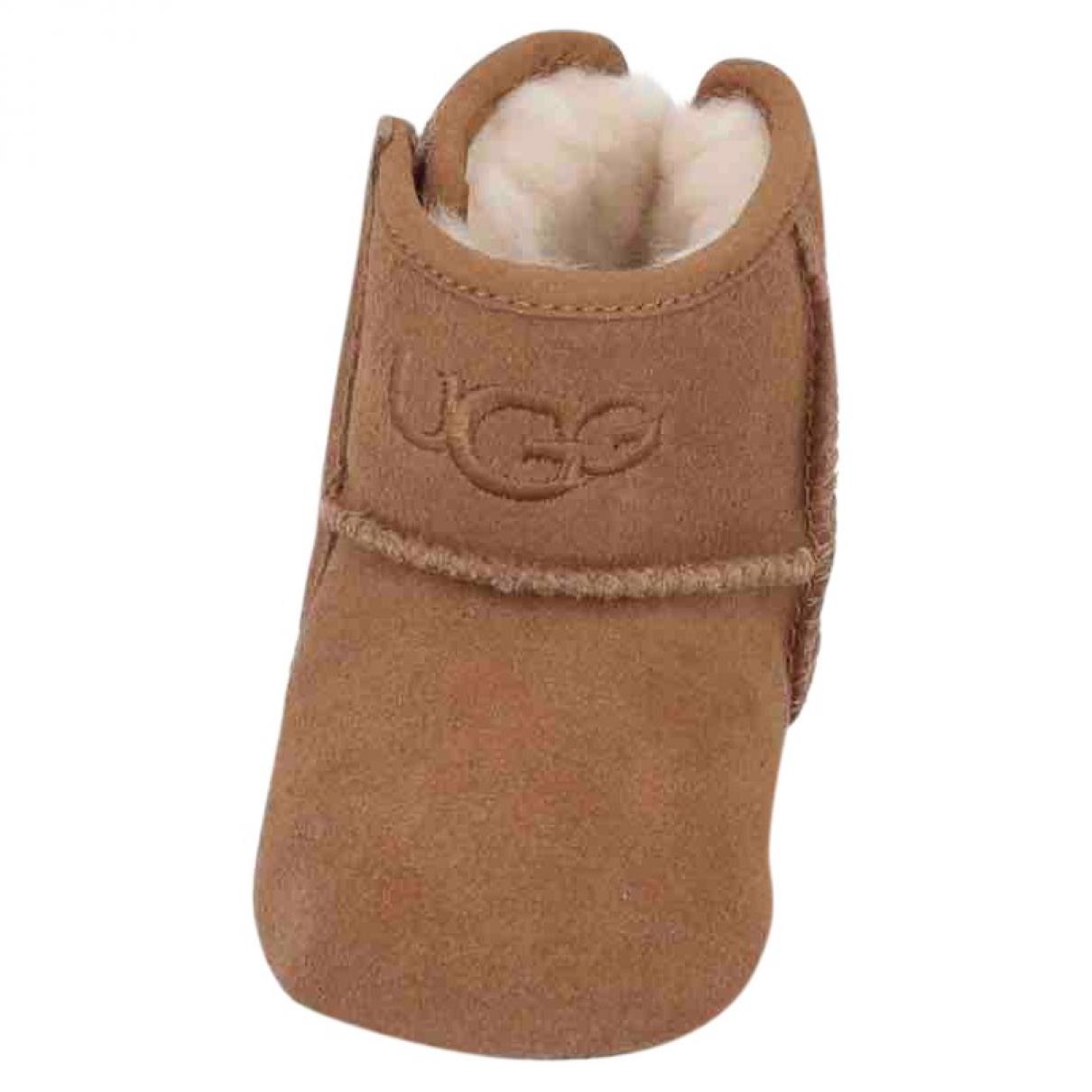 Ugg \N Camel Suede Boots for Kids 18 FR