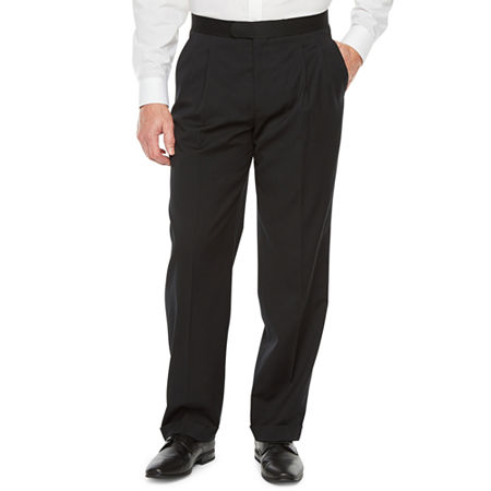 Stafford Travel Mens Classic Fit Tuxedo Pants, 36 32, Black