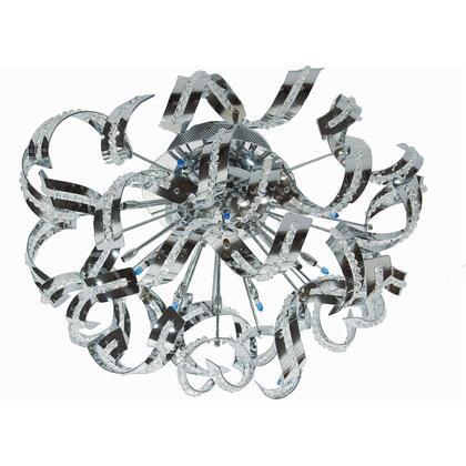V2068F21C/EC Tiffany 12 Light Chrome Flush Mount Clear Elegant Cut