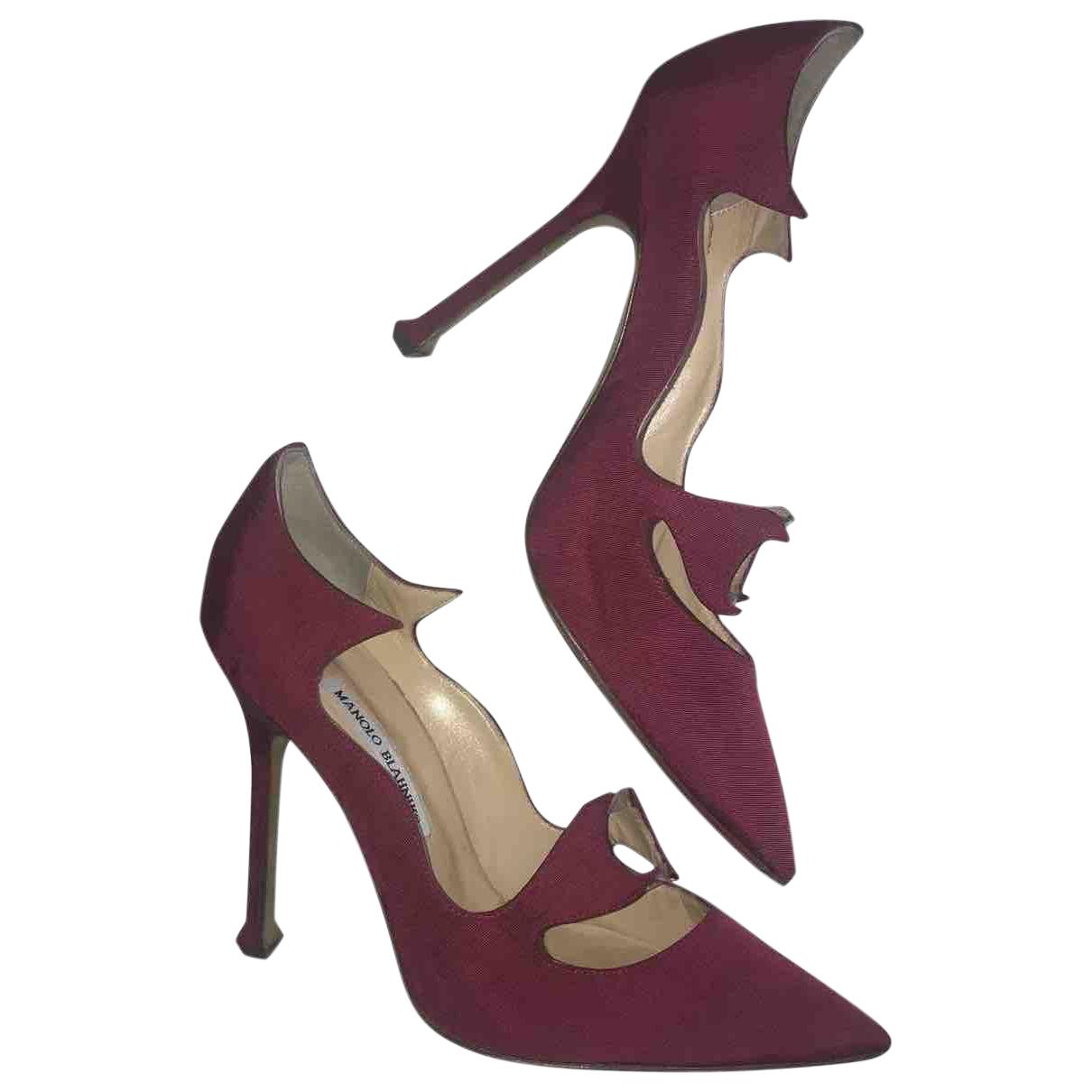 Manolo Blahnik \N Purple Cloth Heels for Women 40 IT