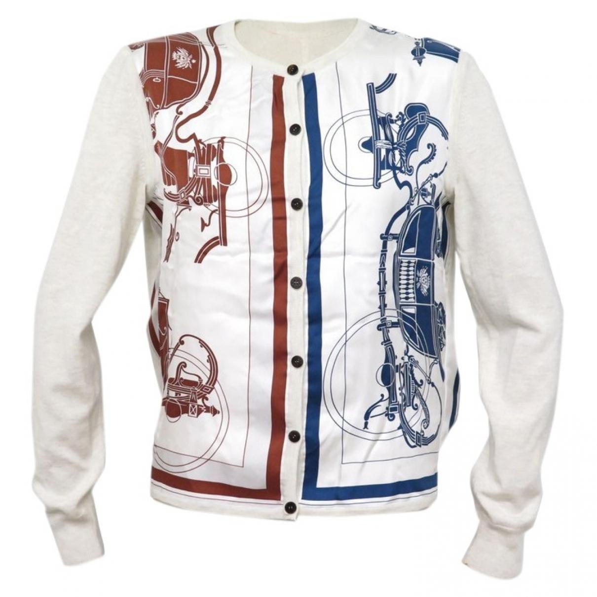 Hermes \N Pullover in  Ecru Kaschmir