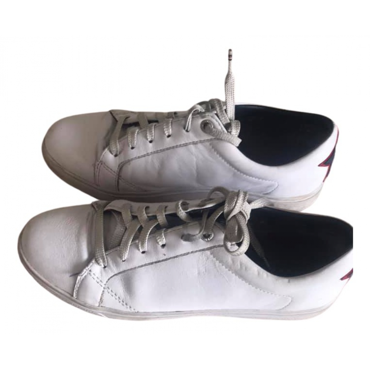 Tommy Hilfiger N White Leather Trainers for Women 39 EU