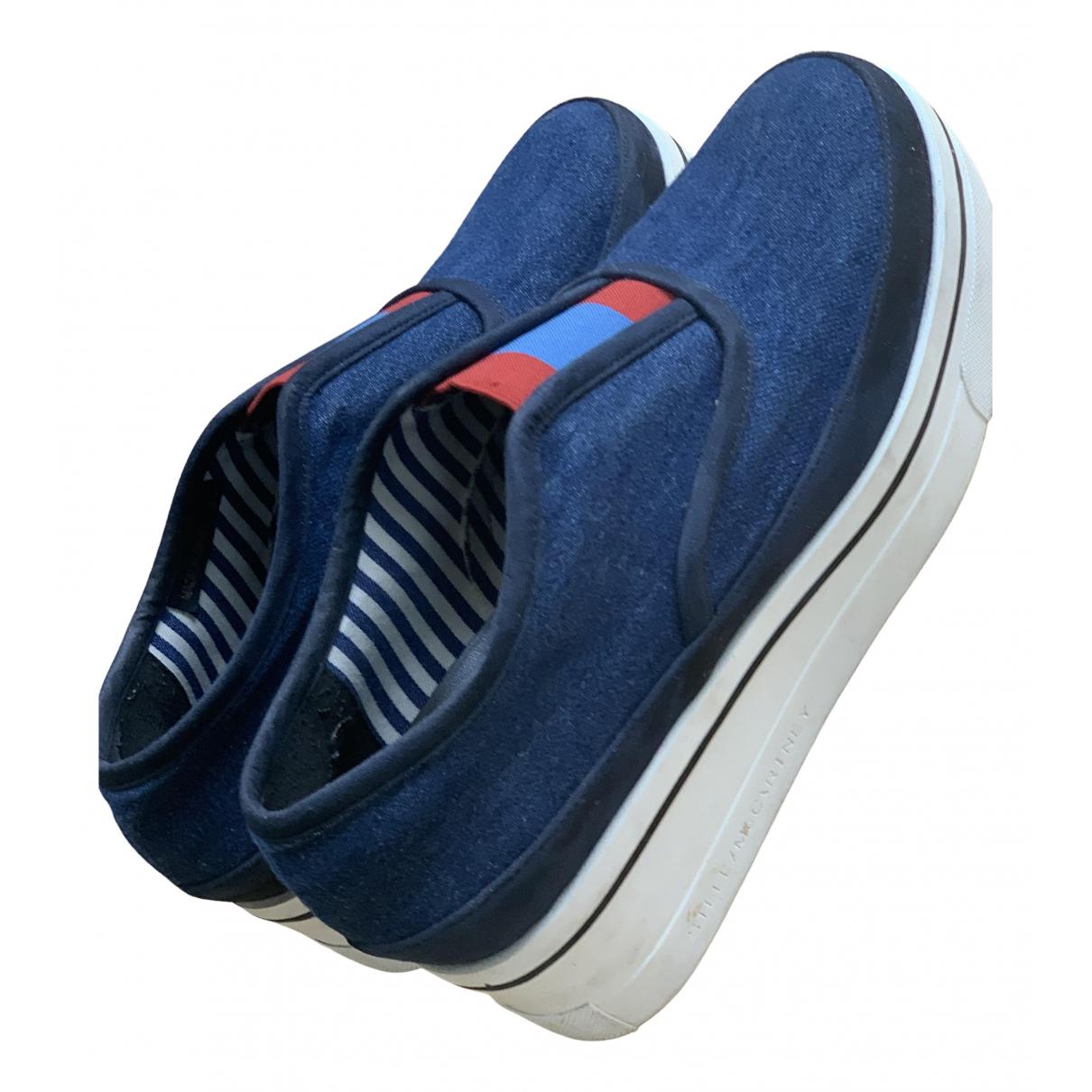 Stella Mccartney - Baskets   pour femme en toile - bleu