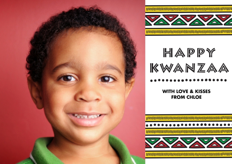 Kwanzaa Photo Cards Flat Matte Photo Paper Cards with Envelopes, 5x7, Card & Stationery -Tribal Kwanzaa