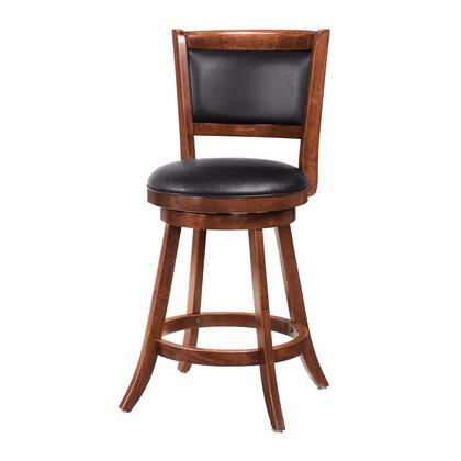 BM69021 Modish Counter Height Stool with Upholstered Seat  Brown  Set of