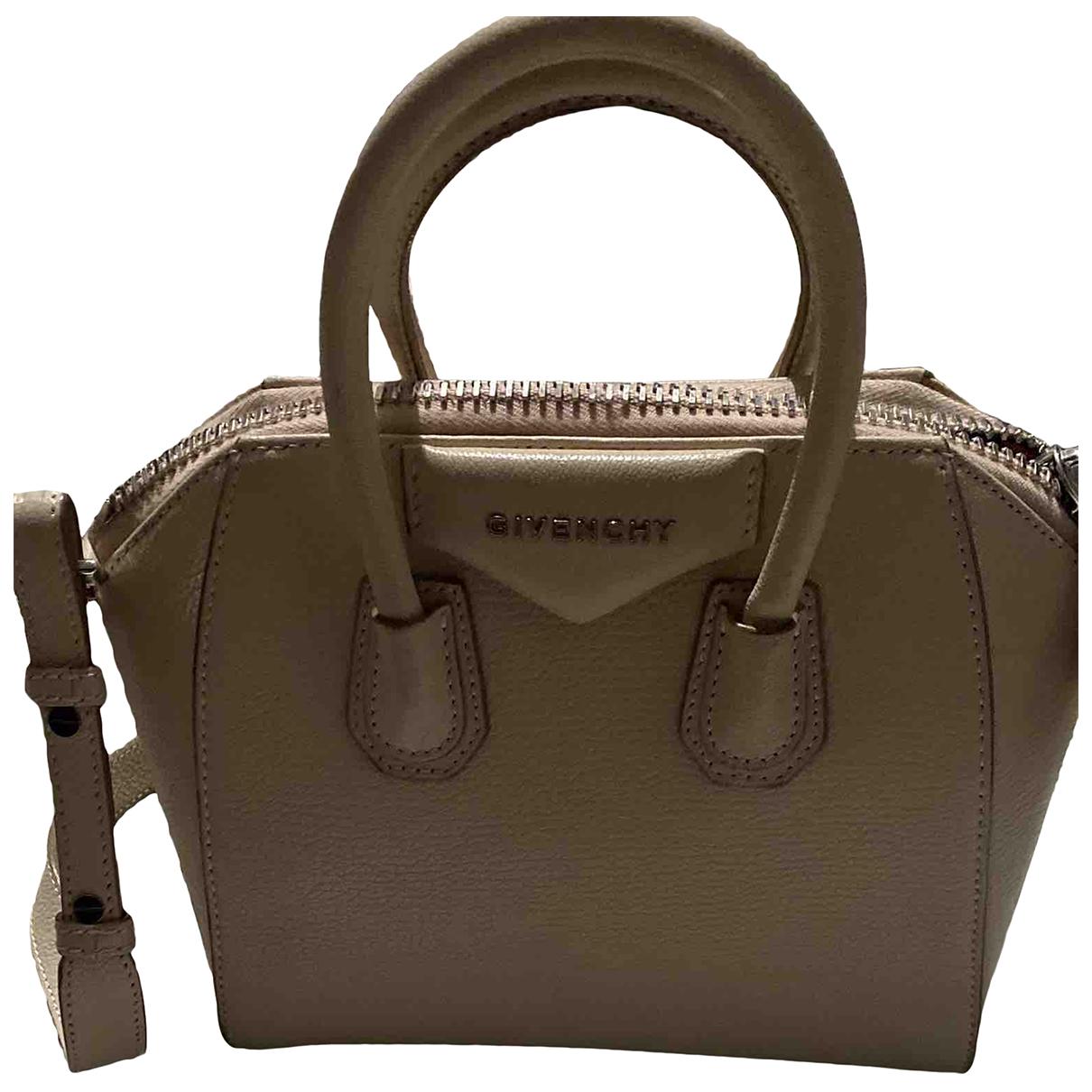 Givenchy - Sac a main Antigona pour femme en cuir - beige