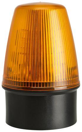 Moflash LED100 Amber LED Beacon, 20 → 30 V ac/dc, Flashing, Surface Mount, Wall Mount