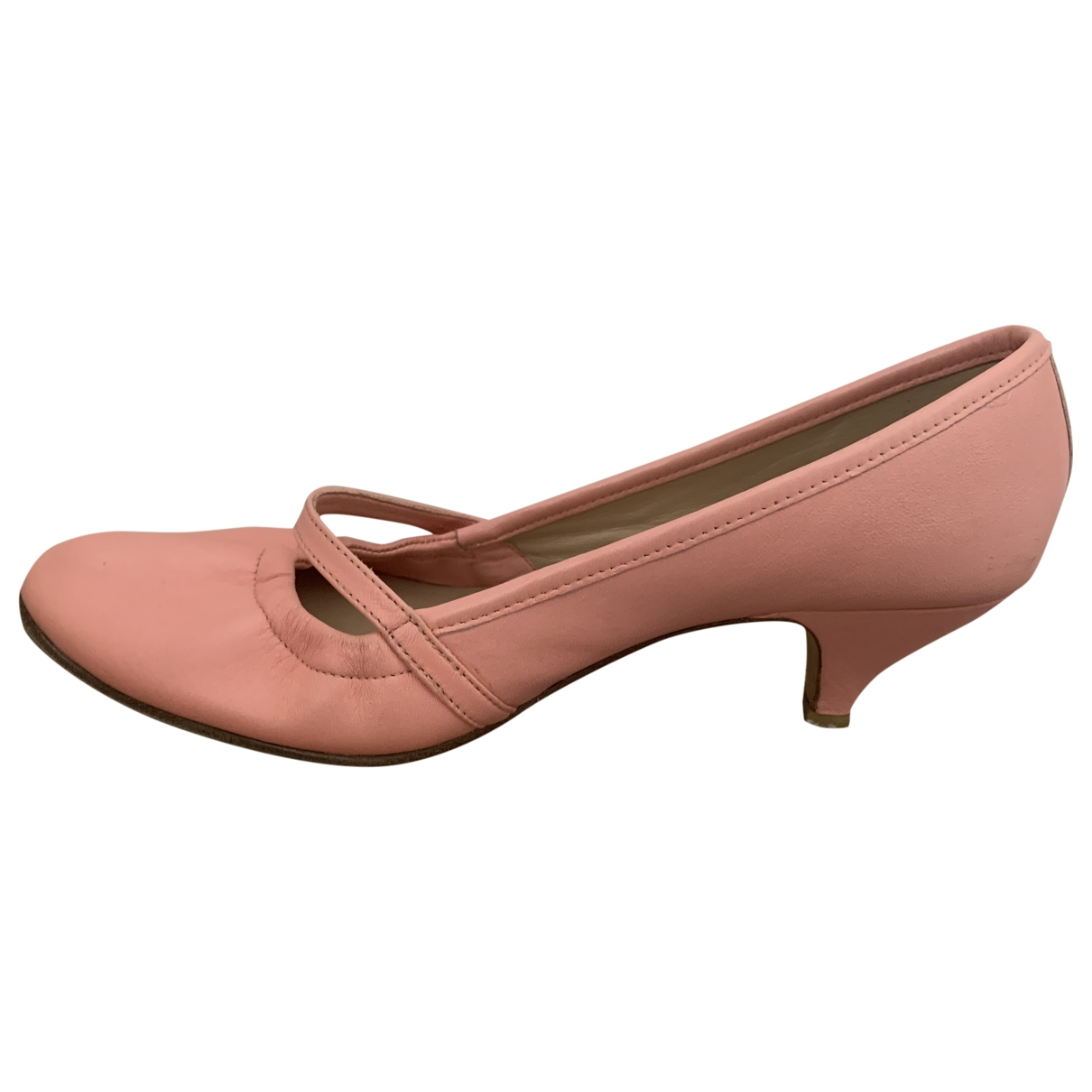 Repetto \N Pink Leather Heels for Women 37.5 EU