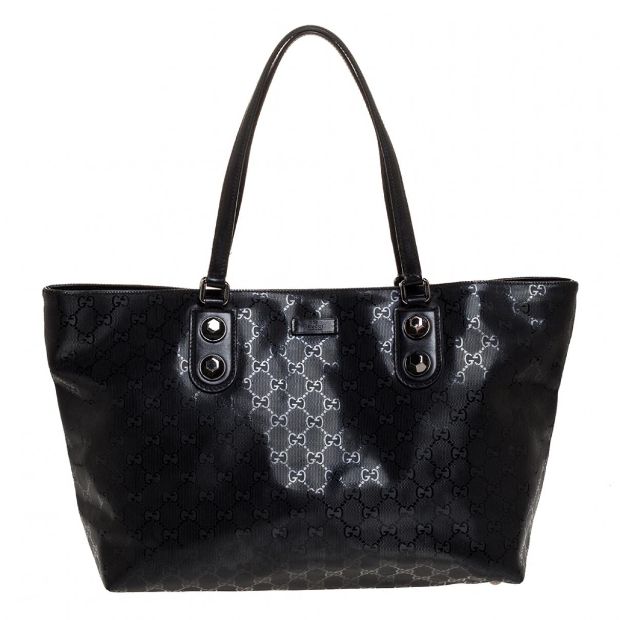 Gucci N Black Leather handbag for Women N