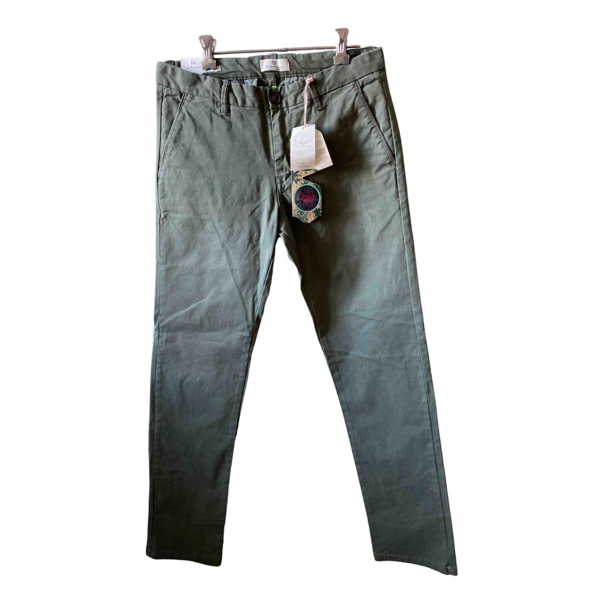 Scotch & Soda - Pantalon   pour enfant en coton - vert