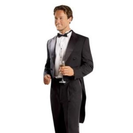 Mens Black Tailcoat with Matching Formal Trousers