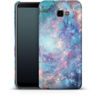 Samsung Galaxy J4 Plus Smartphone Huelle - Abstract Galaxy - Blue von Barruf