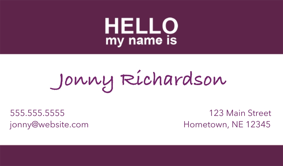 Modern Business Cards, Set of 40, Silk, Card & Stationery -Name Tag