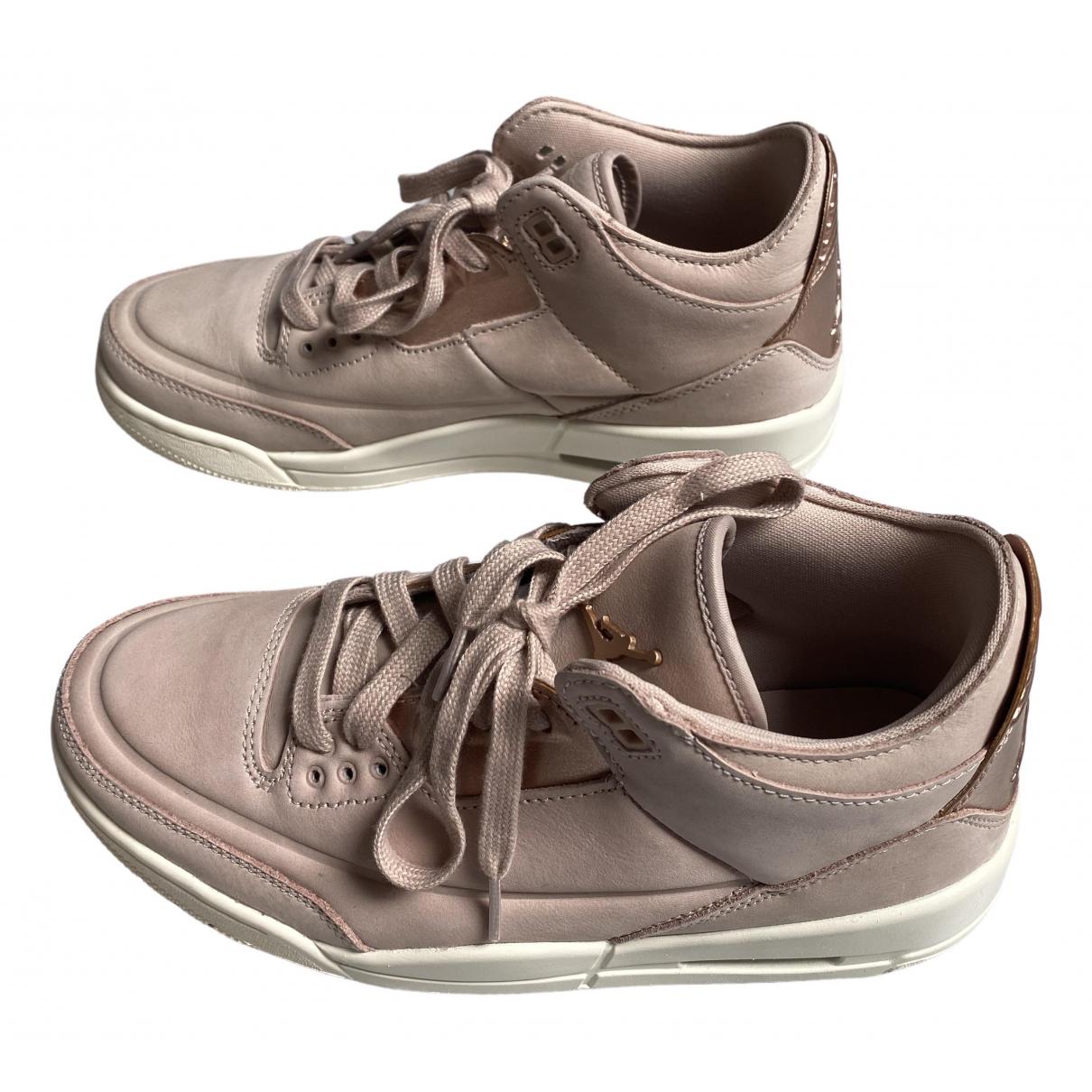 Jordan - Baskets   pour femme en cuir - rose