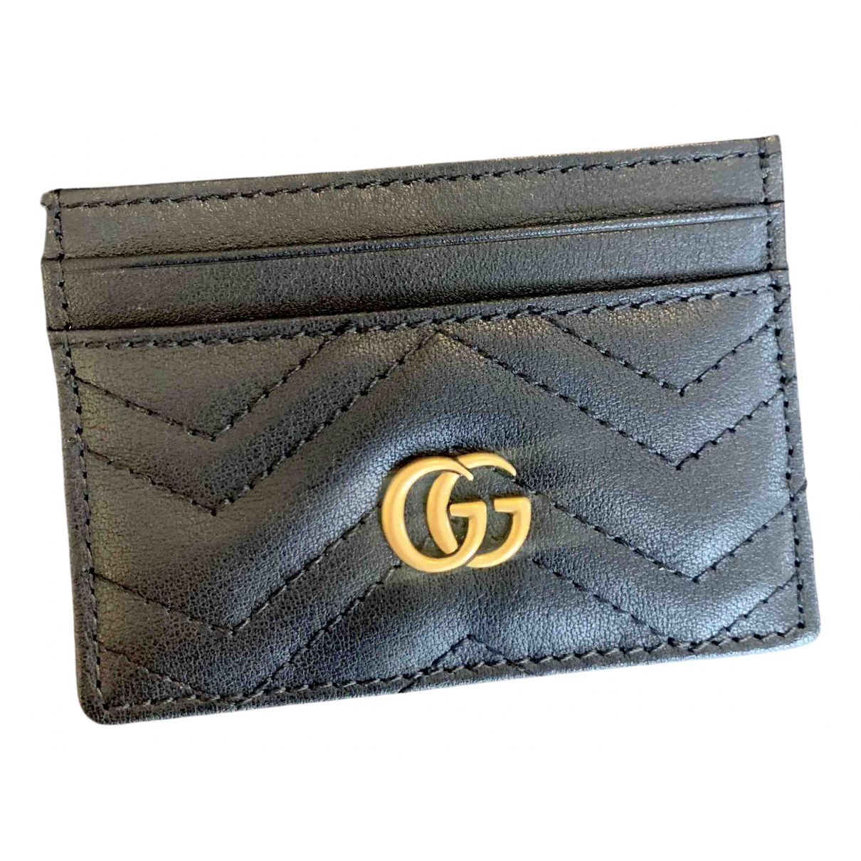 Gucci Marmont Black Leather Purses, wallet & cases for Women N