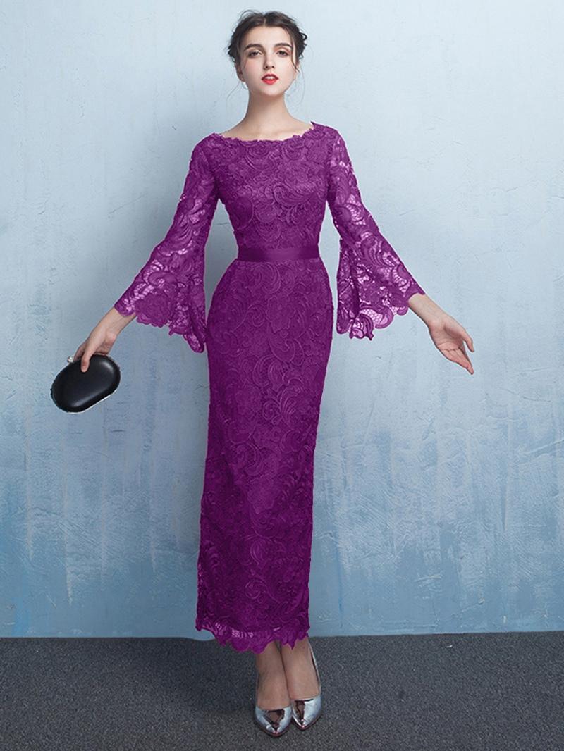 Ericdress Sheath Sleeves Lace Evening Dress