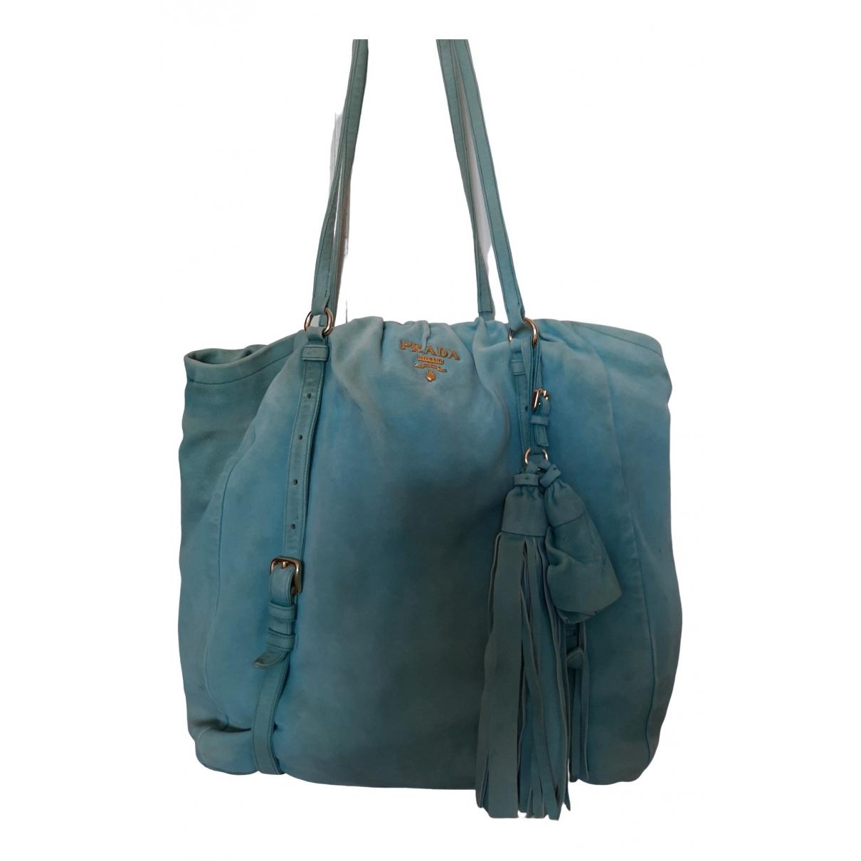 Prada \N Handtasche in  Tuerkis Leder