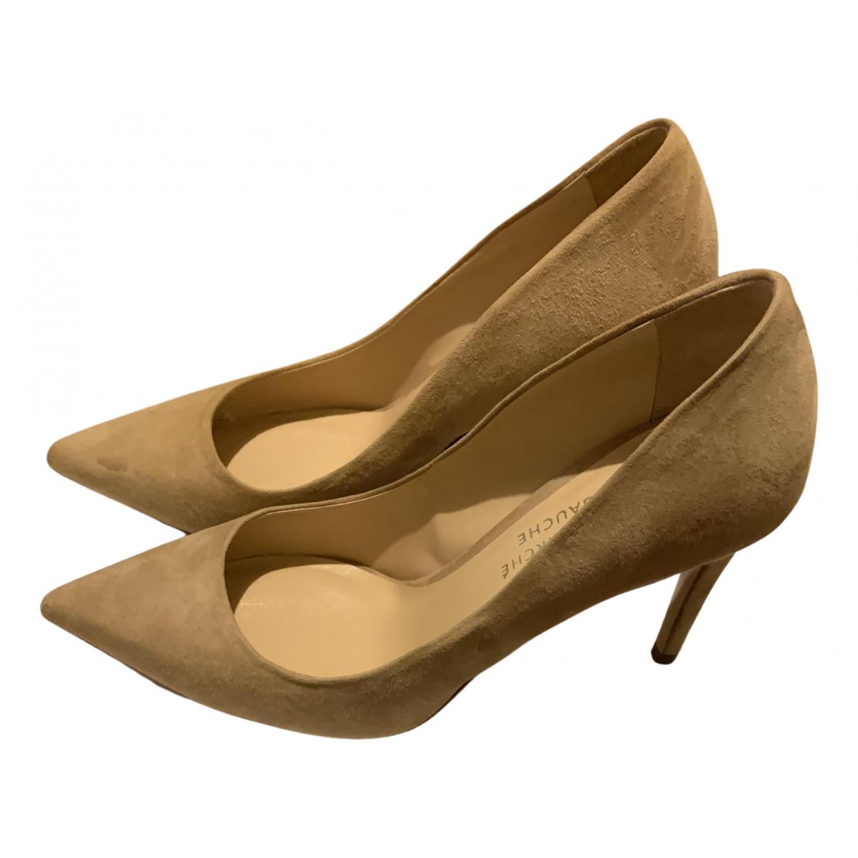 Le Bon Marche - Escarpins   pour femme en suede - beige
