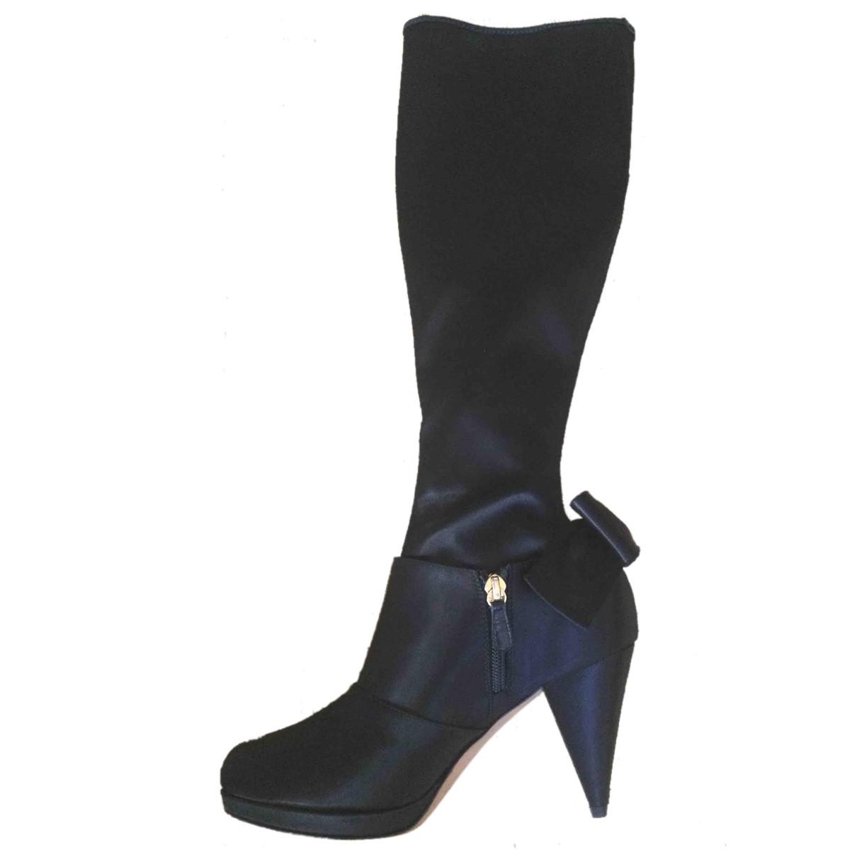 Moschino \N Stiefel in  Schwarz Leinen