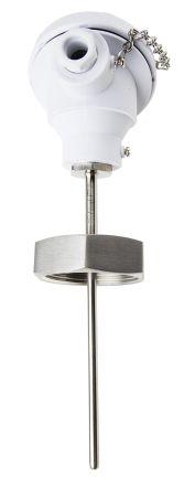 RS PRO 4 wire PT100 Sensor, -50°C min +150°C max, 125mm Probe Length x 6mm Probe Diameter