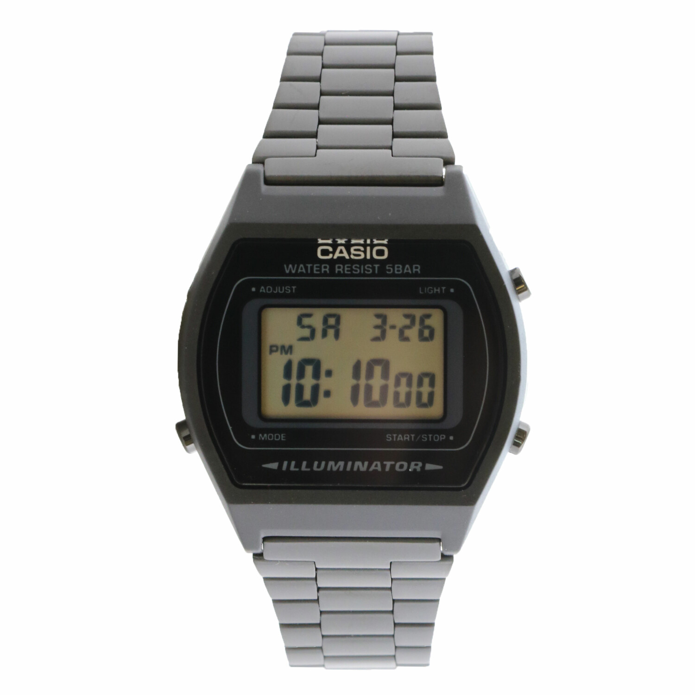 Casio Vintage B640WB-1A Black Stainless-Steel Quartz Sport Watch