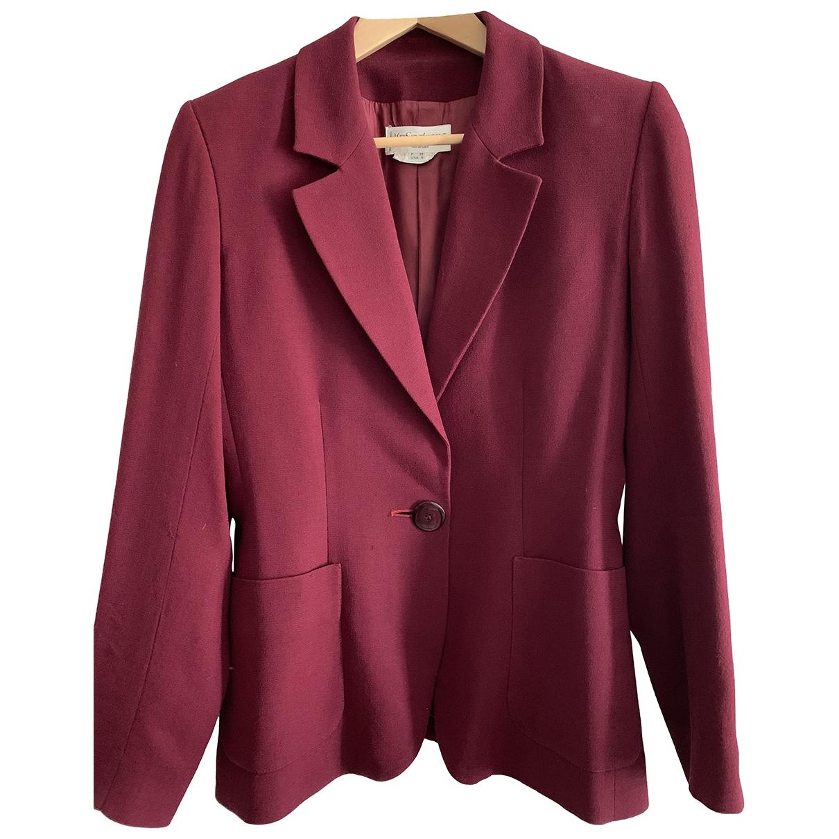 Yves Saint Laurent \N Burgundy jacket for Women 38 FR